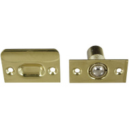 National Hardware N327-585 Adjustable Ball Catch With Plates 1 By 2-1/8 Inch Solid Brass Bright Brass