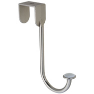 National Hardware N331-496 Metal Over The Door Hook Holder Satin Nickel With Porcelain Accent