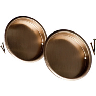 National Hardware N335-695 Recessed Round Cup Pulls 2-1/8 Inch Antique Brass Finish 2 Pack