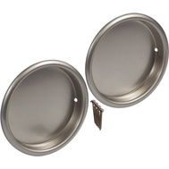 National Hardware N335-703 Recessed Round Cup Pulls 2-1/8 Inch Satin Nickel 2 Pack