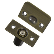National Hardware N335-919 N335-943 Adjustable Ball Catch With Plates 1 By 2-1/8 Inch Antique Brass