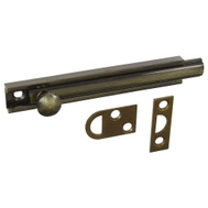 National Hardware N336-206 / N198-002 4 Inch Antique Brass Solid Brass Surface Bolt