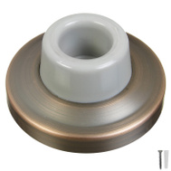 National Hardware N336-289 N336-305 Concave Wall Door Stop 2-3/8 Inch Antique Bronze On Brass