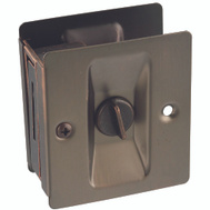 National Hardware N336-412 Privacy Knotched Pocket Door Latch Solid Brass Antique Bronze