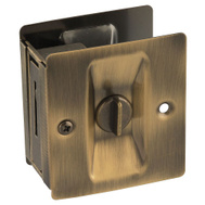 National Hardware N336-420 Privacy Knotched Pocket Door Latch Solid Brass Antique Brass