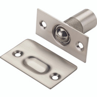 National Hardware N336-446 Adjustable Ball Catch With Plates 1 By 2-1/8 Inch Solid Brass Satin Nickel