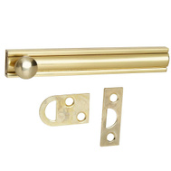 National Hardware N337-667 N197-988 Flush Surface Bolt 4 Inch Bright Solid Brass