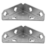 National Hardware N337-675 Reinforced Triangle Corner Braces 2 Inch Zinc Plated Steel 2 Pack