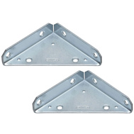 National Hardware N337-691 Reinforced Corner Brace Zinc Plated Steel 4 Inch 2 Pack