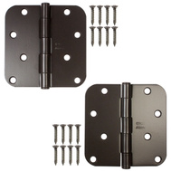 National Hardware N339-325 Door Hinges 4 Inch 5/8 Radius Oil Rubbed Bronze 2 Pack