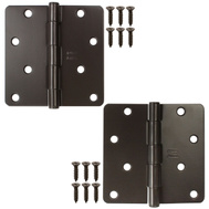 National Hardware N339-333 4 Inch 1/4 Radius Door Hinges Oil Rubbed Bronze 2 Pack