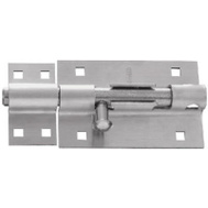 National Hardware N342-477 Extra Heavy Padlockable Barrel Bolt Stainless Steel 5 Inch Satin Finish