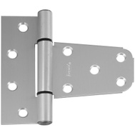 National Hardware N342-576 N342-873 S808-758 3-1/2 By 3 Inch Gate T Hinge For Vinyl Gates Satin Nickel Aluminum Finish