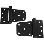 National Hardware N342-592 Extra Heavy Auto-Close Gate Hinges 3-1/2 Inch Black Steel 2 Pack