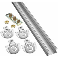 National Hardware N343-087 S403-160 By-Passing Adjustable Door Hardware Kit 72 Inch Galvanized Steel
