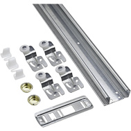 National Hardware N343-111 S403-006 By-Passing Door Hardware Kit 48 Inch Galvanized Steel