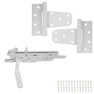National Hardware N343-442 S824-318 Vinyl Fence Gate Hinges & Latch Set White