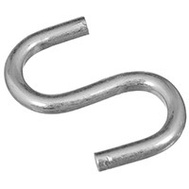 National Hardware N344-796 Heavy Open S Hook 1 Inch Zinc Plated Steel Bulk