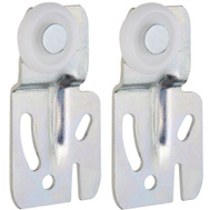 National Hardware N344-879 S403-092 By-Passing Sliding Door Hangers 1/4 Inch Offset Zinc Plated Steel 2 Pack
