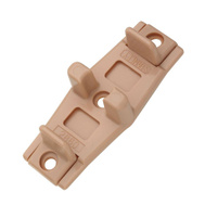 National Hardware N344-937 N344-846 S403-258 Adjustable By-Passing Sliding Door Floor Guides 3/4 To 1-3/8 Inch Tan Nylon