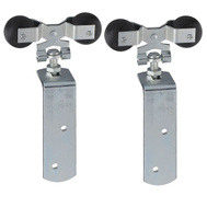 National Hardware N208-504 Round Rail Hangers 600 Pound Zinc Plated Steel Door Strap 2 Pack