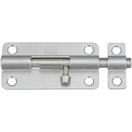 National Hardware N348-284 Barrel Bolt Stainless Steel 4 Inch Satin Finish