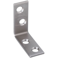 National Hardware N348-300 Corner Braces 1-1/2 By 1/2 Inch Stainless Steel 2 Pack