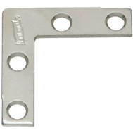 National Hardware N348-326 Flat Corner Braces 2 By 3/8 Inch Stainless Steel 2 Pack