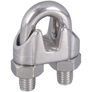 National Hardware N348-920 S850-859 3/8 Inch Stainless Steel Wire Cable Clamp 1 Pack