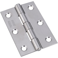 National Hardware N348-995 S851-154 Non-Removable Tight Pin Narrow Hinges 3 By 2 Inch Stainless Steel 2 Pack