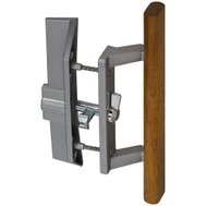 National Hardware N349-191 Stanley Patio Door Handle And Latch Set Aluminum And Wood