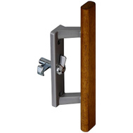 National Hardware N349-217 Patio Door Handle And Latch Set Aluminum And Wood