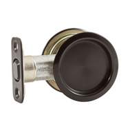 National Hardware N350-314 Passage Round Pocket Door Pull Oil Rubbed Bronze