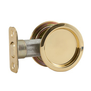 National Hardware N350-330 Passage Round Pocket Door Pull Polished Brass