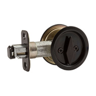 National Hardware N350-355 Privacy Round Pocket Door Latch Oil Rubbed Bronze