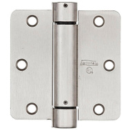 National Hardware N350-835 Spring Door Hinge 3-1/2 Inch 1/4 Radius Satin Nickel