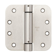 National Hardware N351-023 S849-836 Spring Door Hinge 4 Inch 5/8 Radius Satin Nickel