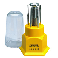 General Tools S605 5 Blade Jewelry Screwdriver Set