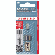 Mag Instrument LMXA201 Maglite 2 Cell C And D Replacement Bulb
