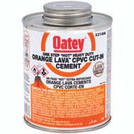 Oatey 32166 Hot Orange Lava Cement Cpvc Hot Orng Lava 8 Ounce