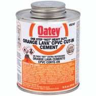 Oatey 32167 Hot Orange Lava Cement Cpvc Hot Orng Lava 16 Ounce