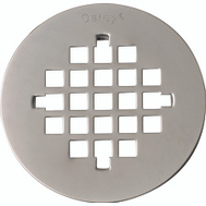 Oatey 42018 4-1/4 Inch Shower Strainers Universal Snap-Tite Brushed Nickel