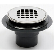 Oatey 42261 Abs Drain Round Stainless Steel Strnr 2 By 3 Inch