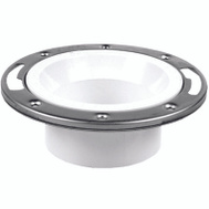 Oatey 43499 Closet Flange- Ss Ring Pvc 4In