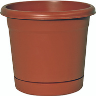 True Temper RR1212TC Southern Patio 12 Inch Rolled Rim Planter And Saucer