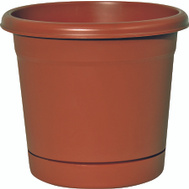 True Temper RR0624TC Southern Patio 6 Inch Rolled Rim Planter And Saucer