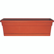 True Temper WB3012TC Southern Patio 30 Inch Rolled Rim Window Box With Tray