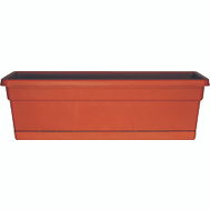 True Temper WB2412TC Southern Patio 24 Inch Rolled Rim Window Box With Tray