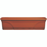 True Temper MB2412TC Southern Patio Medallion Window Box 24 Inch Terra Cotta
