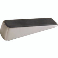 Shepherd Hardware 3314 Designer Series Contemporary Heavy Duty Wedge Door Stop Satin Nickel 1 Pack